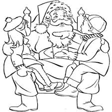 kids playing santa claus coloring pages christmas coloring