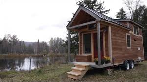 beautiful tiny house cabin by the lake youtube