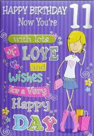11th birthday card