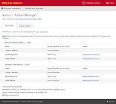 Wells Fargo Design Card Account Access Management U2013 Wells Fargo Business Online Tour