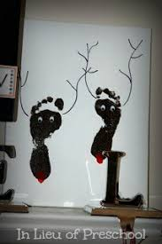 reindeer footprint art christmas keepsake on canvas u2013 in lieu of