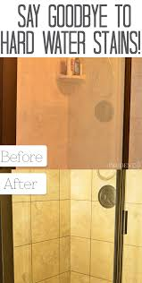 Water Stains On Glass Shower Doors How To Clean Shower Doors With Water Stains Water