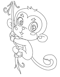 print u0026 download cute baby monkey coloring pages