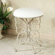 Vanity With Stool Butterfly Grace Cushioned Vanity Stool