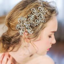wedding hair clip luxury gold bridal headpiece wedding hair