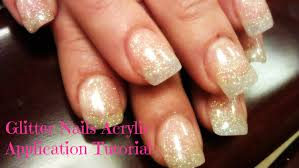 how to glitter acrylic nails acrylic application youtube