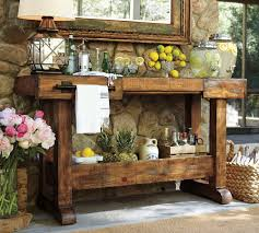 pottery barn buffet table diy pottery barn console table beverage table drink and pottery
