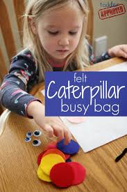 felt caterpillar busy bag busy bags for kids busy bags