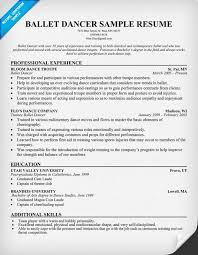 Audition Resume Sample by Awesome Sample Dance Resume For Audition 91 For Resume Sample With