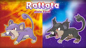 the rattata in sun and moon is an exle of actual