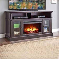 Electric Fireplace Heater Tv Stand by Electric Fireplace Tv Stand Media Storage Flame Heater Laminated