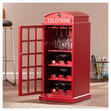 Red Phone Booth Cabinet Adams Phone Booth Wine Cabinet Red Aiden Lane Target