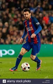 Lionel Messi Leg Barcelona Spain 7th Feb 2017 Barcelona S Lionel Messi Vies For