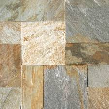 Faux Slate Floor Tiles Indoor Outdoor Slate Tile Natural Stone Tile The Home Depot