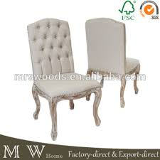 French Linen Armchair French Vintage Button Tufted Linen Dining Chair Beige Linen Chair