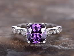 compare prices on amethyst engagement 6 5mmm cushion cut amethyst engagement ring 925 sterling silver
