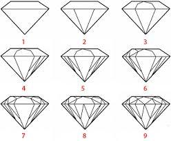 voila comment dessiner un diamant facilement a vous de jouer