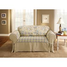 Washable Sofa Slipcovers by Sure Fit Lexington T Cushion One Piece Sofa Slipcover Hayneedle