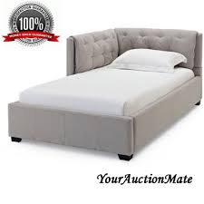 tufted chaise sofa corner daybed tufted sofa reversible twin bed upholstered platform