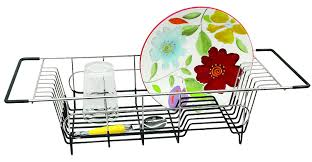 Dish Drying Rack For Sink Amazon Com Better Houseware Over Sink Dish Drainer 19 25 X 8 25