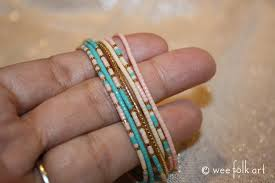 diy glass bead bracelet images Morse code bracelets wee folk art JPG