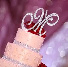 rhinestone cake bling wedding cake topper sparkle rhinestone