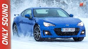 awd subaru brz new subaru brz 2017 snow first test drive only sound youtube