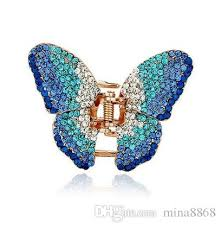butterfly hair clip new fashion beautiful hair clip hairpin austrian butterfly