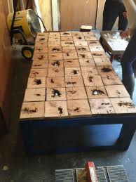 Custom Coffee Table by Custom Coffee Table Built From 300 Year Old Oak Salvaged From