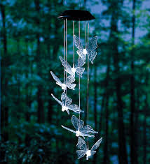 Solar Lights Hanging by Flying Butterfly Solar Mobiles With Bright Leds Gardening