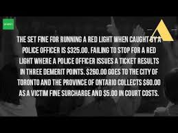 how much does a red light ticket cost in california how much is a red light ticket in ontario youtube