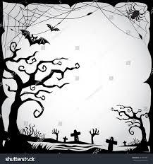Halloween Border Set Halloween Border Frame Blackwhite Stock Vector 471375791