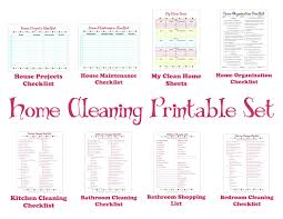 printable house cleaning schedule schedule printable set keep your house clean