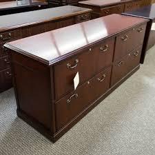 Mahogany Lateral File Cabinet Used Kimball 72 Lateral File Credenza Mahogany Crb1522