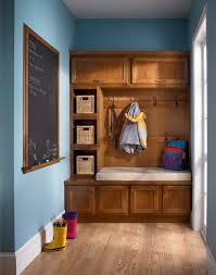 Kraftmaid Laundry Room Cabinets Cherry Entryway In Sunset Kraftmaid