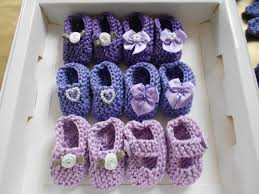 purple baby shower ideas girl baby shower decorations 4 pairs knit mini bootie