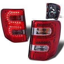 jeep grand cherokee led tail lights amazon com jeep grand cherokee 99 04 led tail light red smoke new