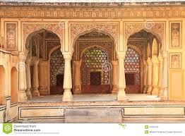 Palace Design Interior Of Hawa Mahal Wind Palace In Jaipur Rajasthan India