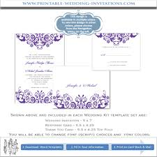 printable wedding invitation kits purple wedding invitation kits printable diy stationery