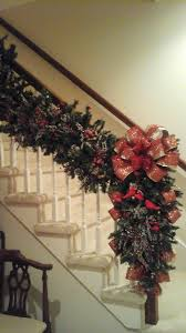 garland swag post wreath lighted 6ft luxury staircase