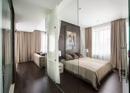 Glass Dividers Interior Design by Apartment Comfort Small Bedroom Design With Glass Partition And