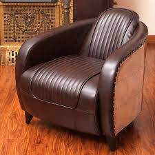 Club Armchairs Sale Design Ideas Avion Wwii Jet Fighter Design Brown Leather Accent Club Chair In