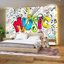 graffiti chambre beibehang personnalisé 3d abstraite musical enfants de chambre