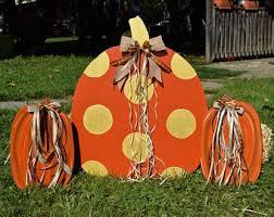 large fall thanksgiving pumpkin 3 yard stake set