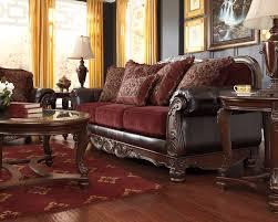 Maroon Living Room Furniture - weslynn place burgundy traditional classics sofa u0026 loveseat
