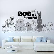 online get cheap wall stickers pug aliexpress com alibaba group dog is a friend pug chow chow jiwawa dogs wall sticker for pet shop kids room