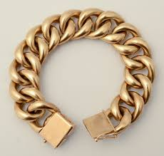 gold chain bracelet with charm images 44 heavy gold curb chain 14k rose gold heavy curb chain bracelet jpg