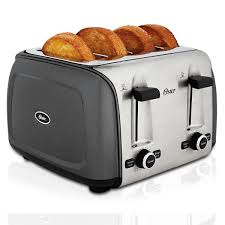 Sunbeam 4 Slice Toaster Review Oster Designed To Shine 4 Slice Toaster Charcoal Tssttrpmc4 Oster