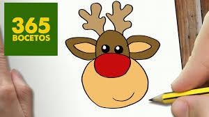 imagenes animadas de renos de navidad como dibujar un reno para navidad paso a paso dibujos kawaii