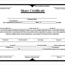 example blank stock certificate template free download selimtd